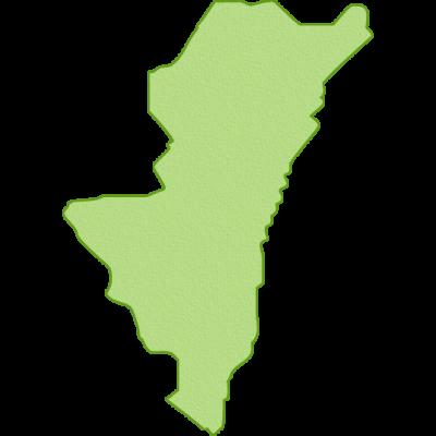宮崎県の地図イラスト