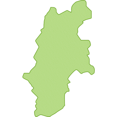 長野県の地図イラスト