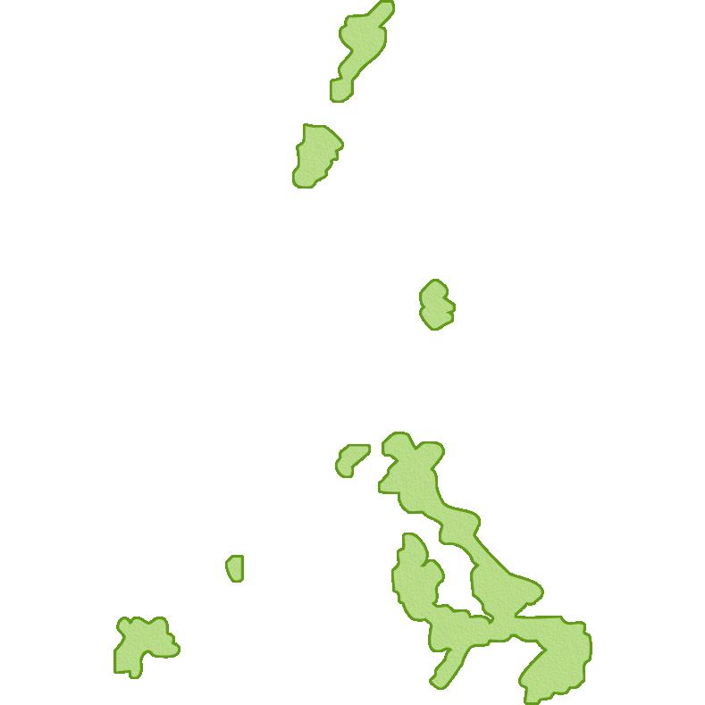 長崎県の地図イラスト