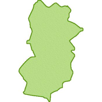 奈良県の地図イラスト