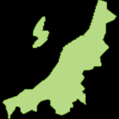 新潟県の地図イラスト