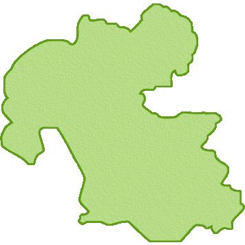 大分県の地図イラスト