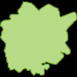 【日本地図】岡山県の地図イラスト