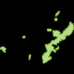 【日本地図】沖縄県の地図イラスト
