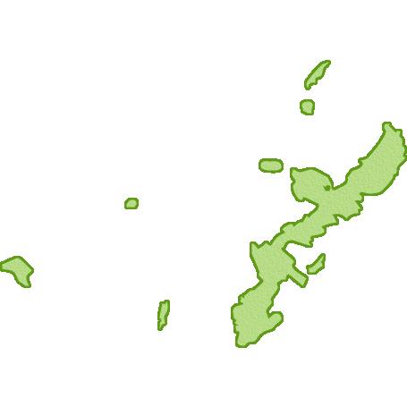 沖縄県の地図イラスト