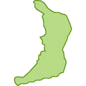 大阪府の地図イラスト