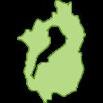 【日本地図】滋賀県の地図イラスト