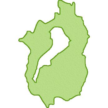 滋賀県の地図イラスト