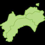 【日本地図】四国地方の地図のイラスト