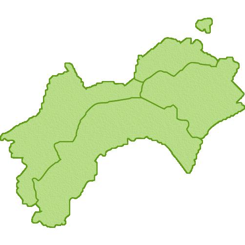 四国地方の地図のイラスト