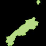 【日本地図】島根県の地図イラスト