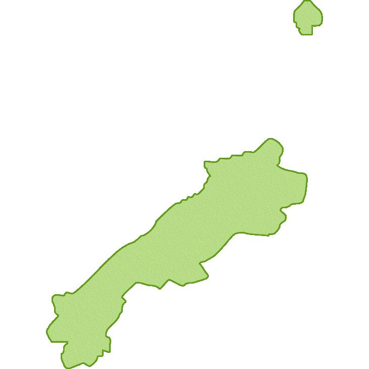 島根県の地図イラスト