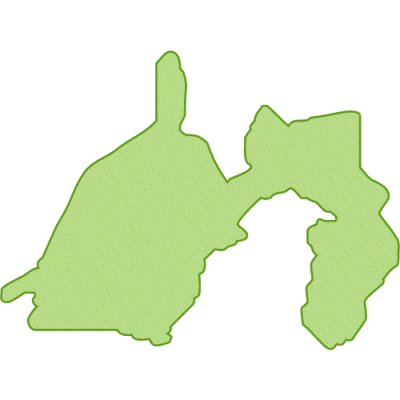 静岡県の地図イラスト