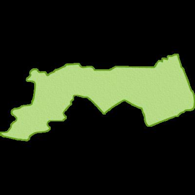鳥取県の地図イラスト