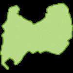 【日本地図】富山県の地図イラスト
