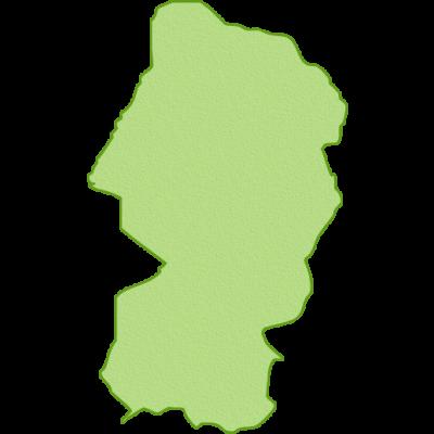 山形県の地図イラスト