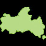 【日本地図】山口県の地図イラスト