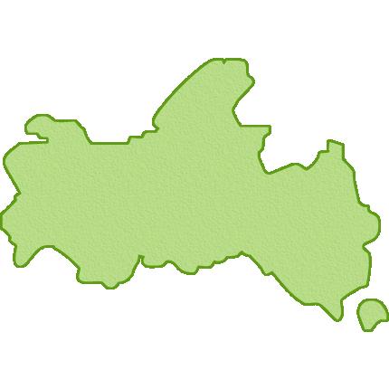山口県の地図イラスト
