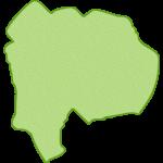 【日本地図】山梨県の地図イラスト