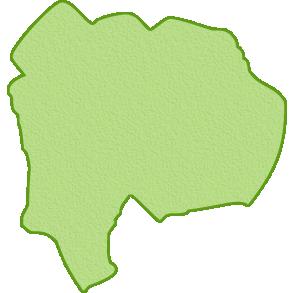 山梨県の地図イラスト