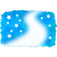 【七夕イラスト】天の川の背景素材