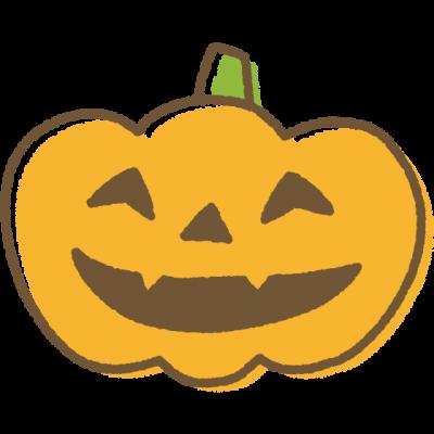 手書き風ハロウィンのかぼちゃランタンのイラスト