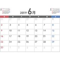 PDFカレンダー2019年6月
