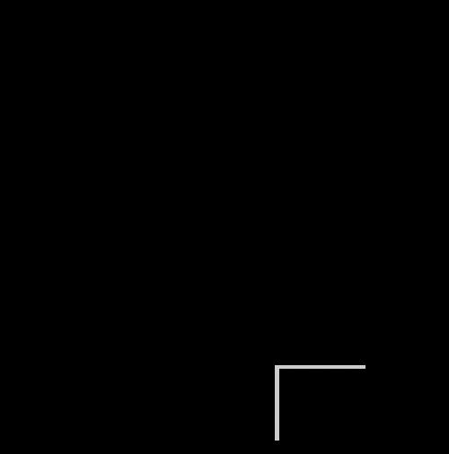 日本地図の白黒イラスト