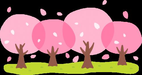 桜並木のイラスト<小>