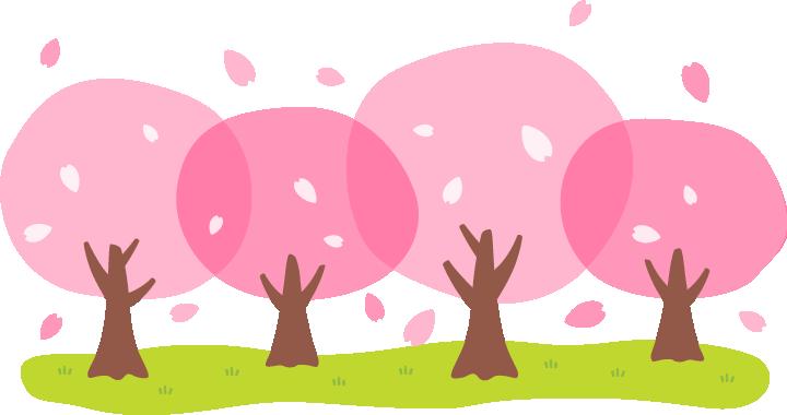桜並木のイラスト素材 無料フリーイラスト素材集frame Illust