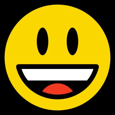 笑顔のニコちゃんマーク(絵文字)