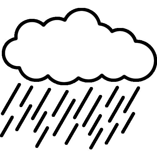 雨雲のイラスト(白黒)