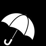 雨の天気イラスト(白黒)