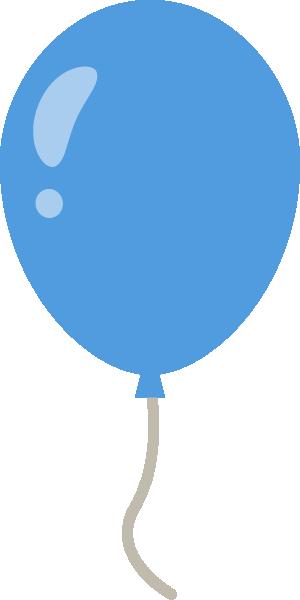 風船のイラスト<青色>