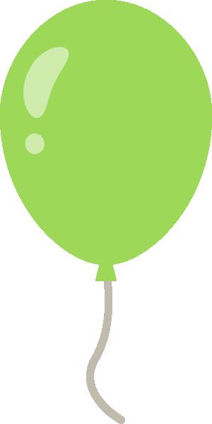 風船のイラスト<黄緑色>