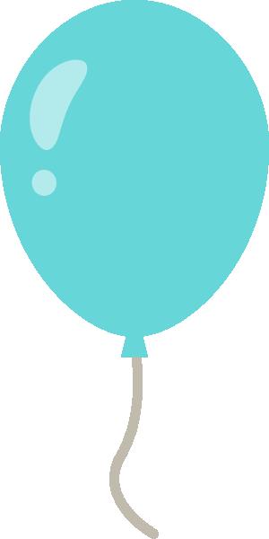 風船のイラスト<水色>
