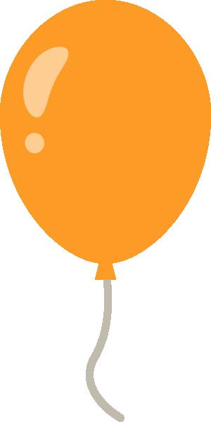 風船のイラスト<オレンジ色>