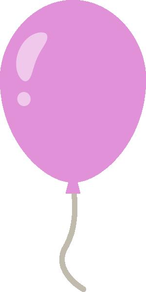 風船のイラスト<紫色>