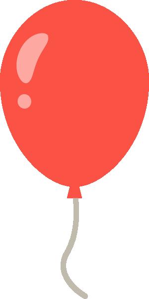 風船のイラスト<赤色>