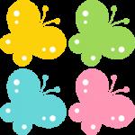 かわいい蝶々(ちょうちょ)のイラスト