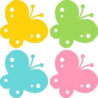蝶々(ちょうちょ)のイラスト