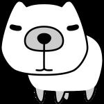 カピバラのイラスト(白黒)