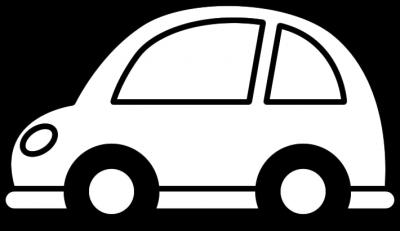 車のイラスト(白黒)