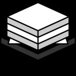 菱餅のイラスト(白黒)