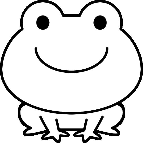 カエルのイラスト(白黒)