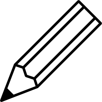 鉛筆のイラスト(白黒)