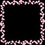 桜吹雪のフレーム飾り枠イラスト