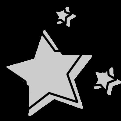 星のアイコンイラスト(白黒)