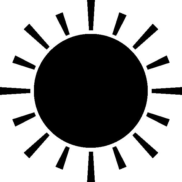 太陽のシルエットイラスト