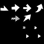 矢印アイコンイラスト(手書き)